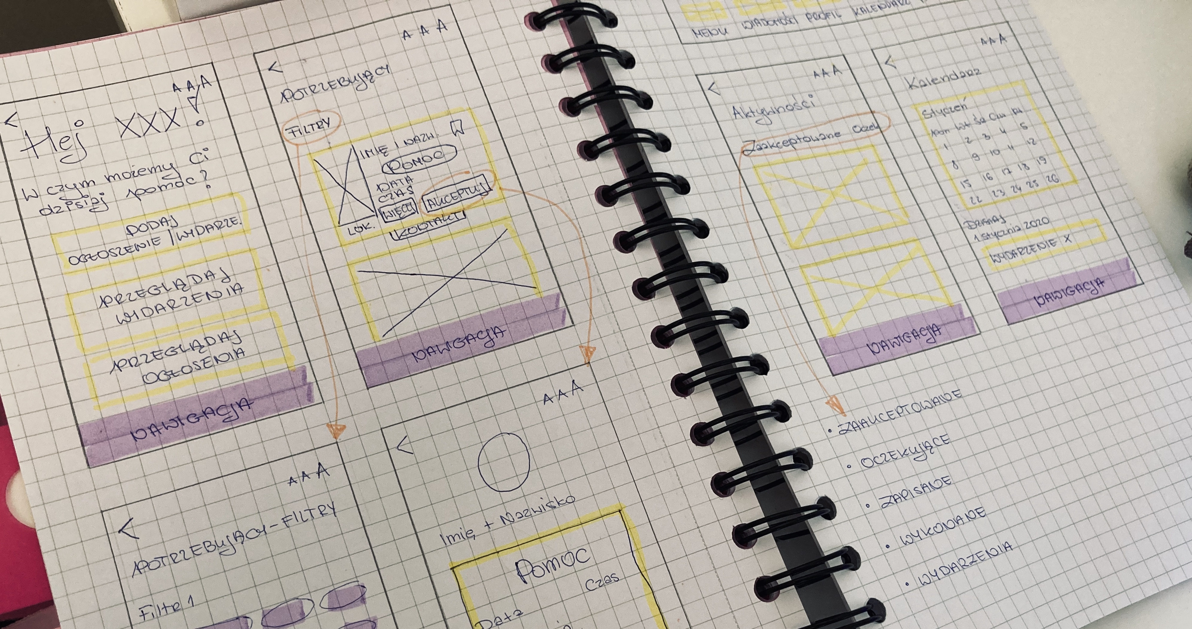 My path to becoming a product designer at Untitled Kingdom - UX/UI sketches