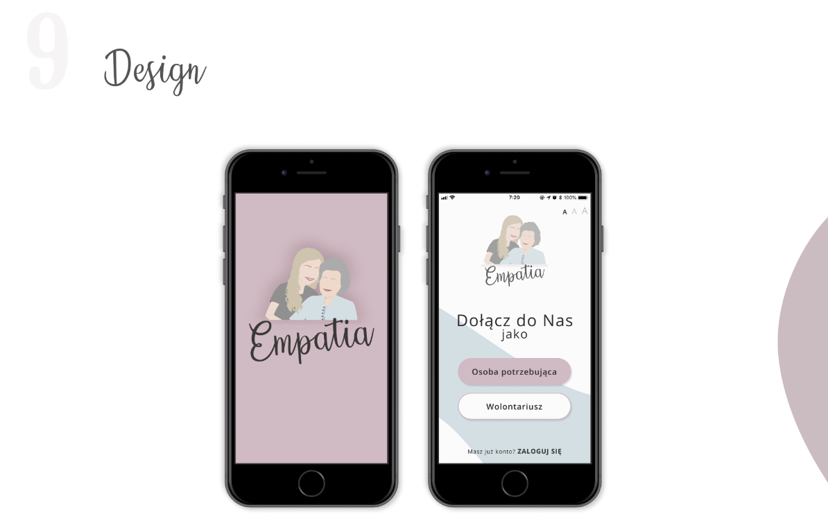 One of my first sketches in Figma for Empatia app.